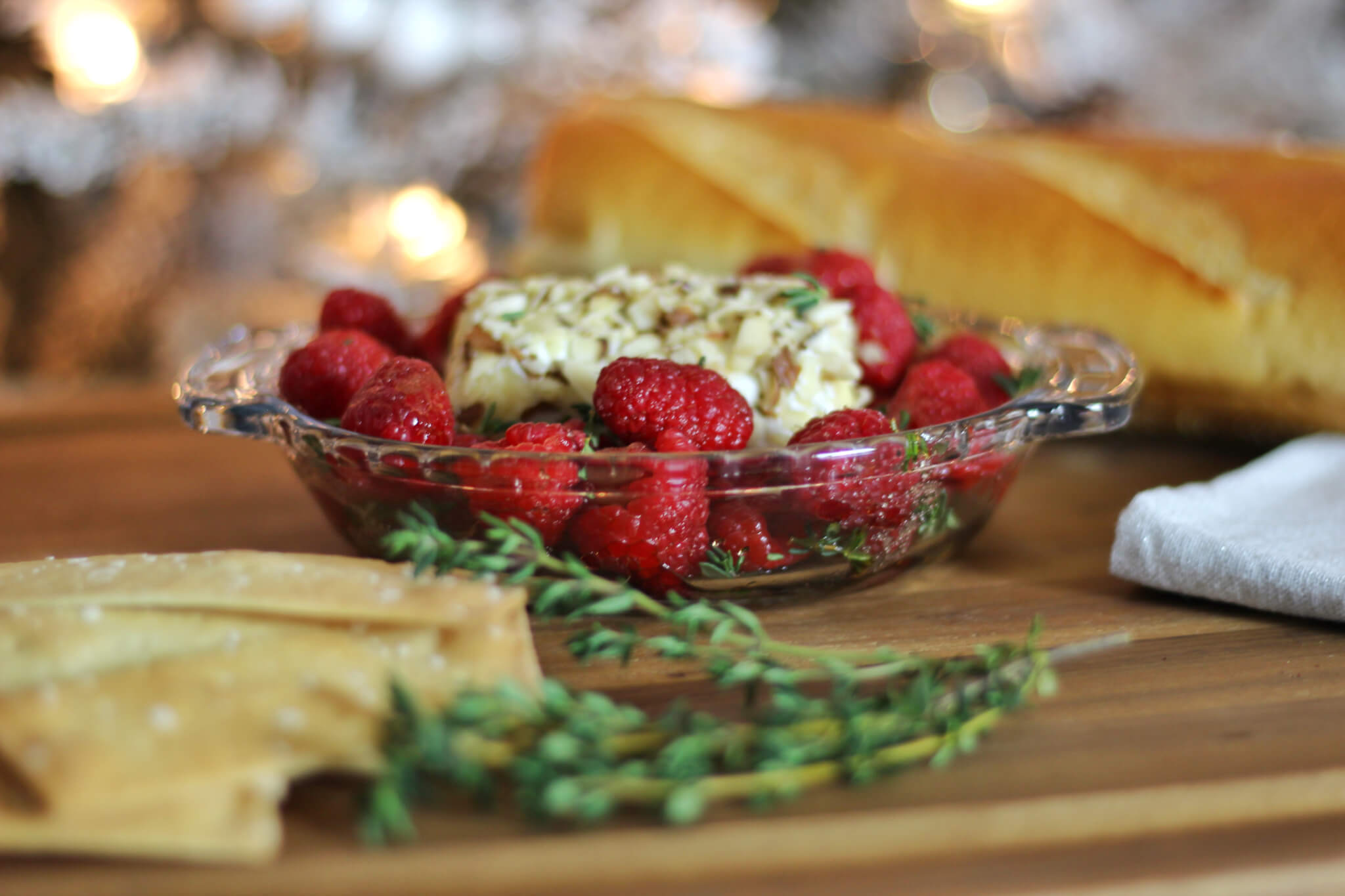 Baked Goat Cheese and Balsamic Raspberry Dip