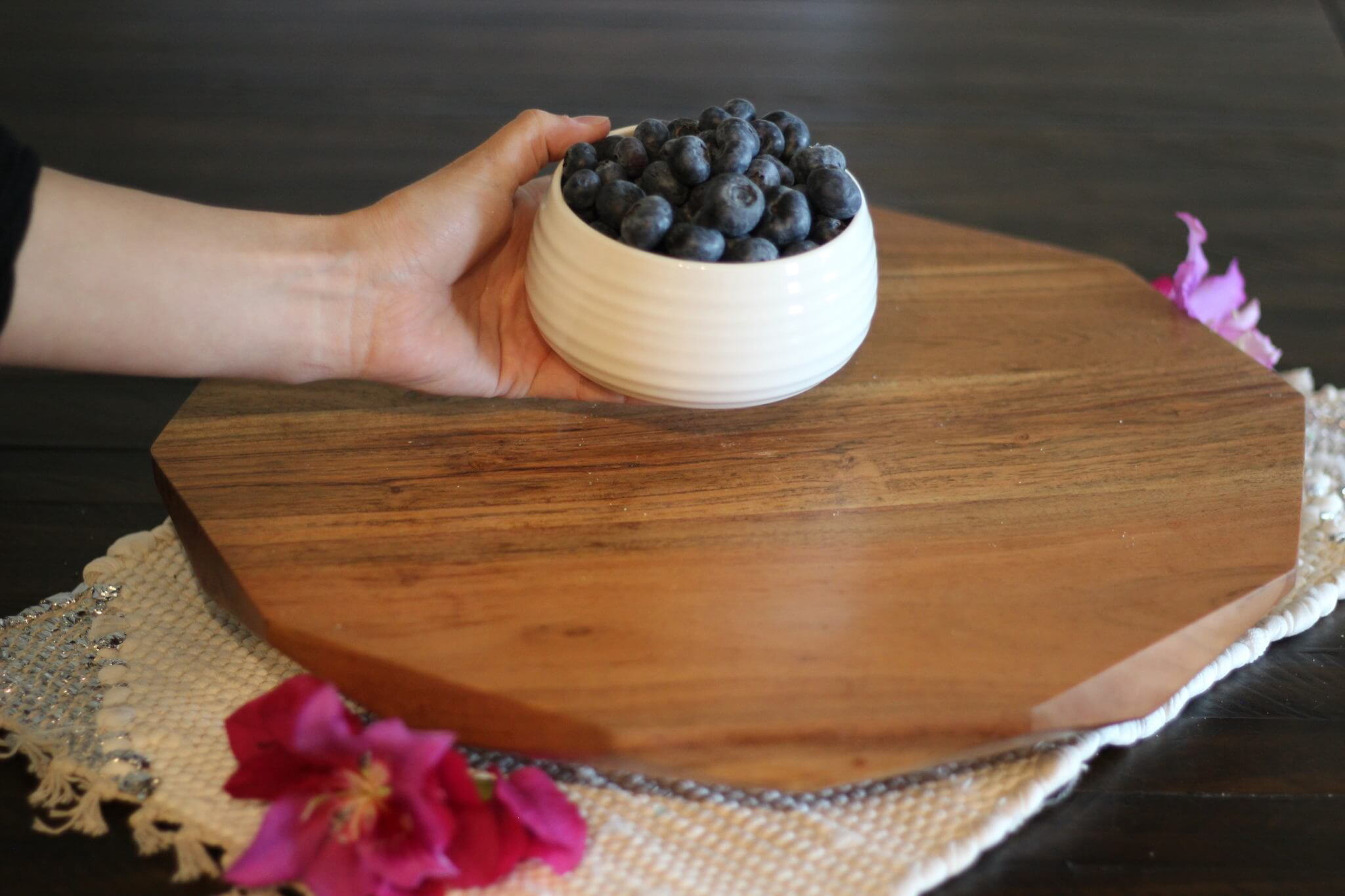 Lazy Susan with Wish Farms Florida Blueberries
