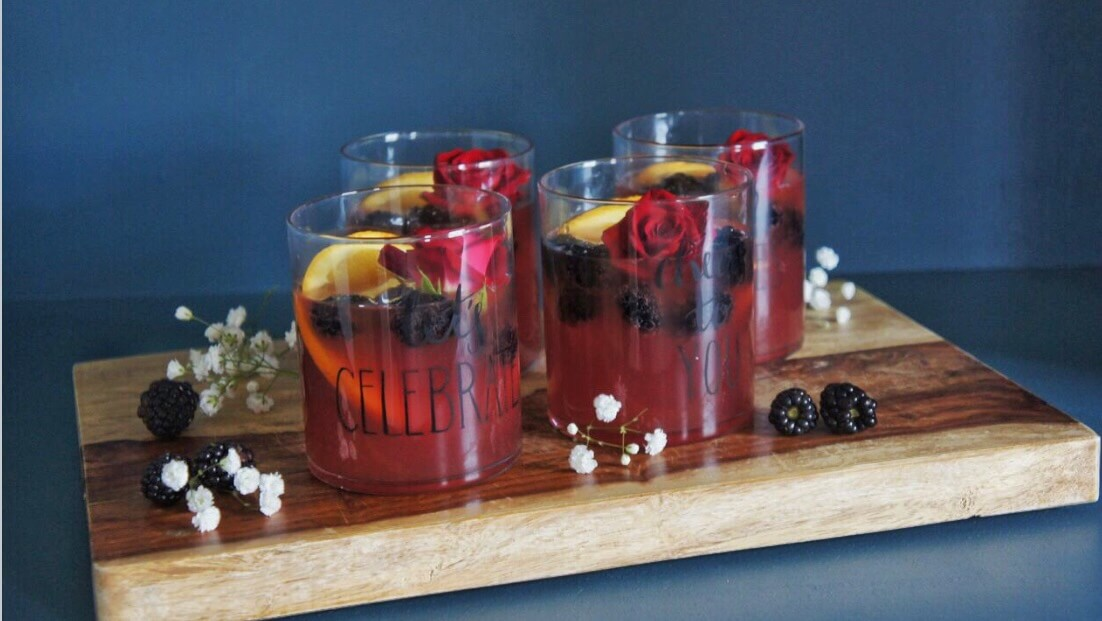 Blackberry Rum Punch Cocktail Wish Farms Recipes