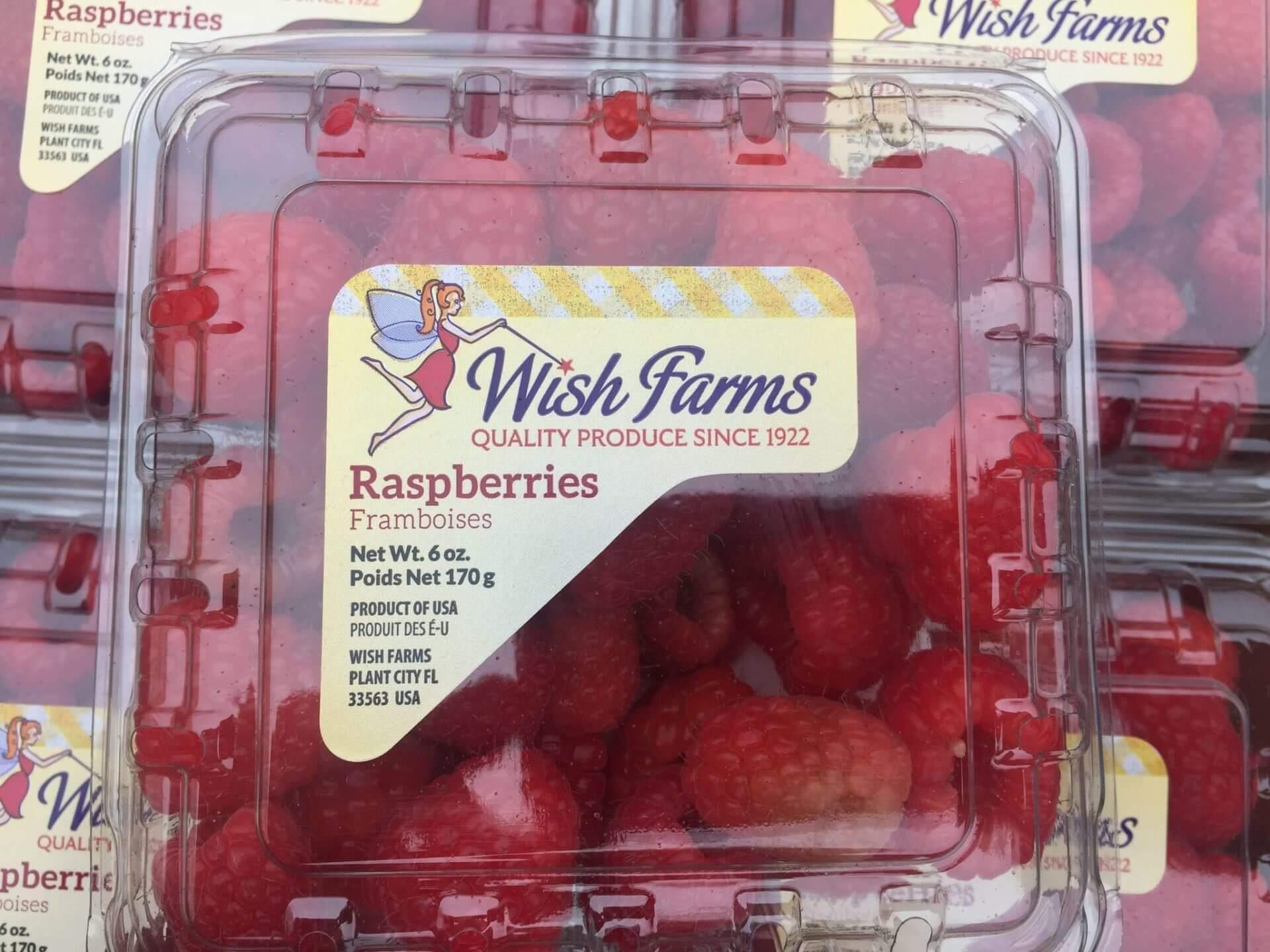 Wish Farms Raspberries