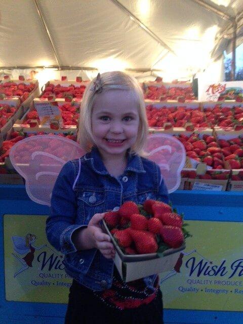 Enjoying Wish Farms Strawberries at the Florida Strawberry Festival