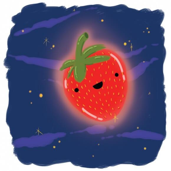 Strawberry Moon Cartoon Wish Farms Florida